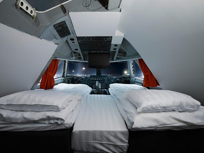 Cockpit of Jumbo Hostel - photo by Lioba Schneider