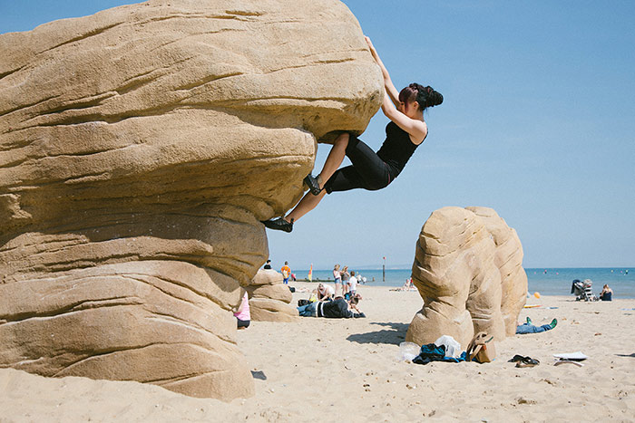 Try Bouldering in Bournemouth. Image via Tourism South East