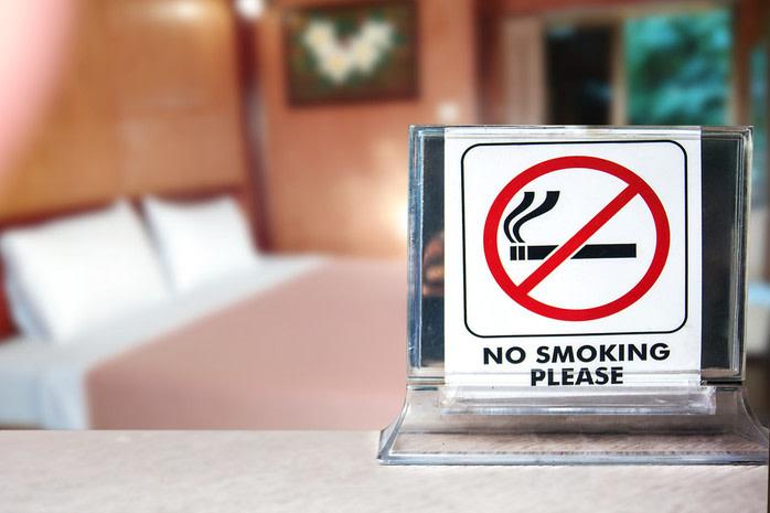 No smoking en habitación de hotel