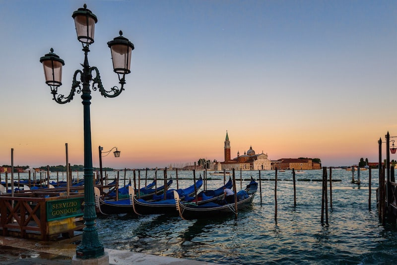 vistas de la laguna de venecia