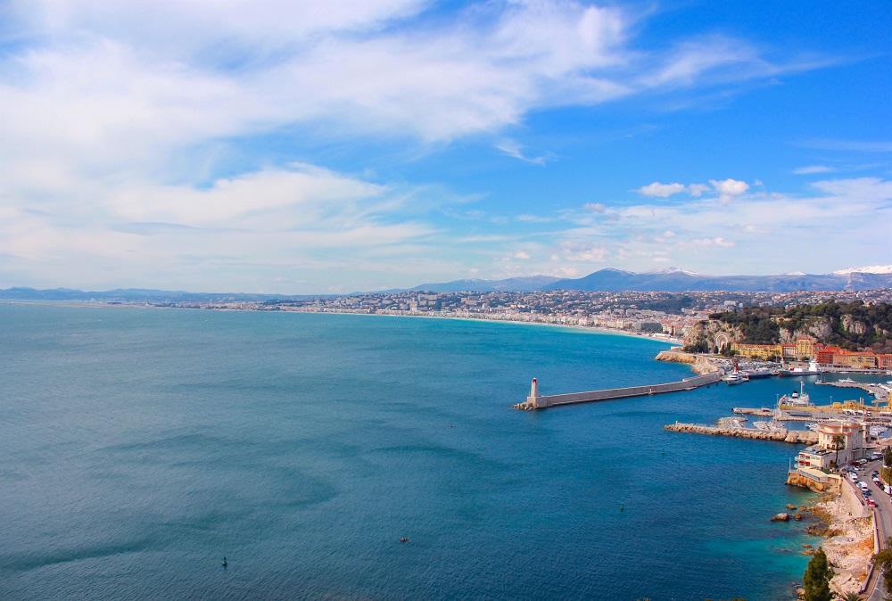 8. Veduta su Nizza e la Baie des Anges