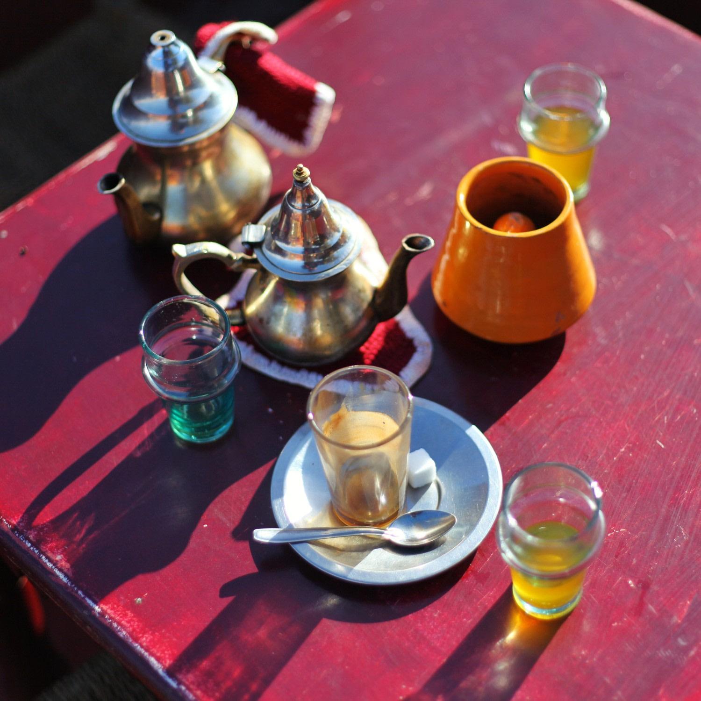 Loisirs - Thé à la menthe à Marrakech