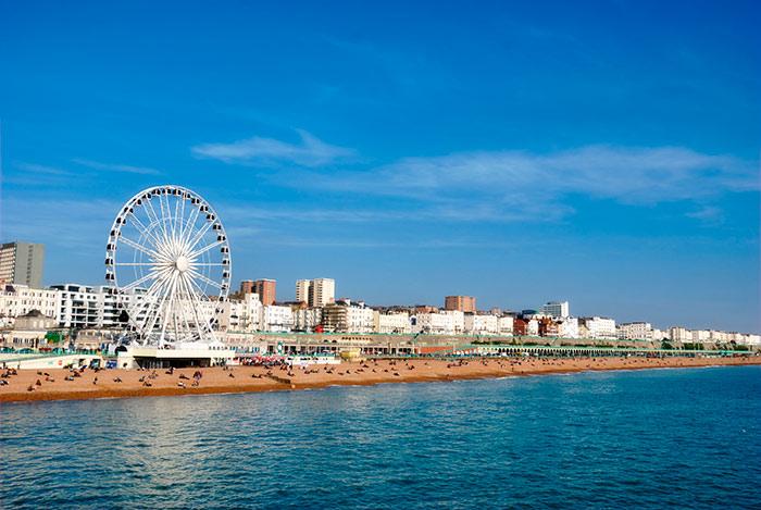 Brighton Wheel on the beach