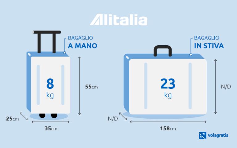 seleziona per originale qualità superiore autentico Misure e peso del bagaglio a mano e in stiva Alitalia: info ...