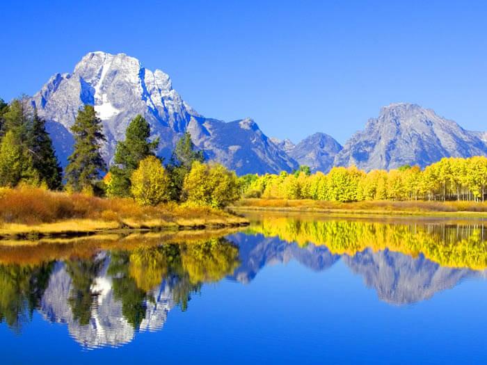 Gran Tetón en Wyoming estados unidos