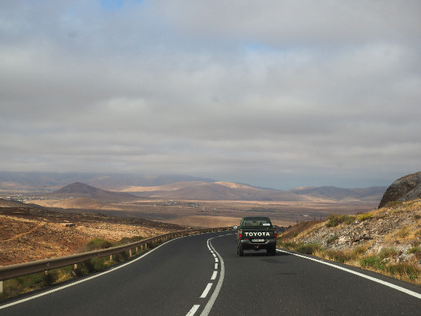 On the road a Fuerteventura