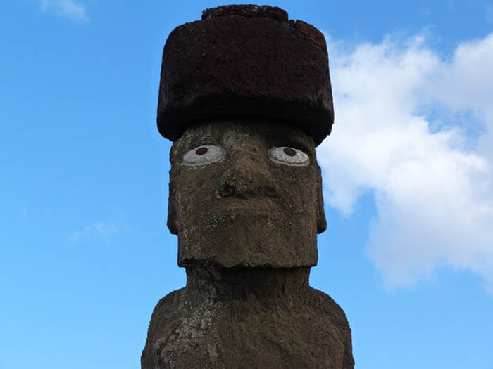 cabeza de un moai en la isla de pascua