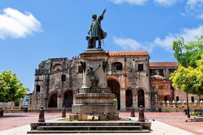 Parque Colón en Santo Domingo