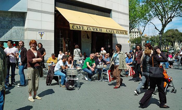 Terrazas de Barcelona Cafe Zurich