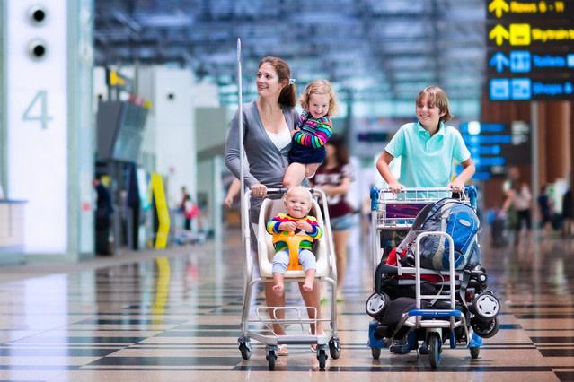 Vacaciones con niños: aeropuerto