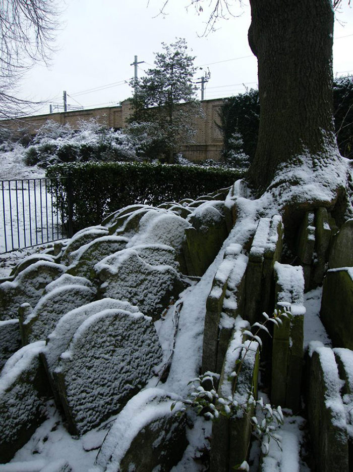 St Pancras Churchyard in the snow