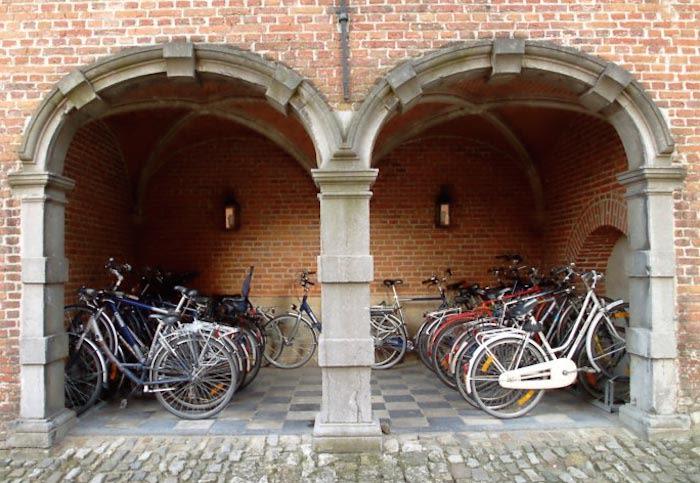 bicicletas en lovaina ciudad de flandes