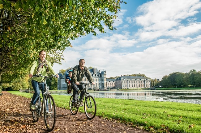 Beloeil, 2014/10/17, Balade vélo au Château de Beloeil - Point noeud vélo.  Photo Coralie Cardon