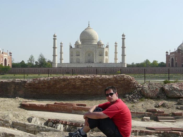 sele en el taj mahal india