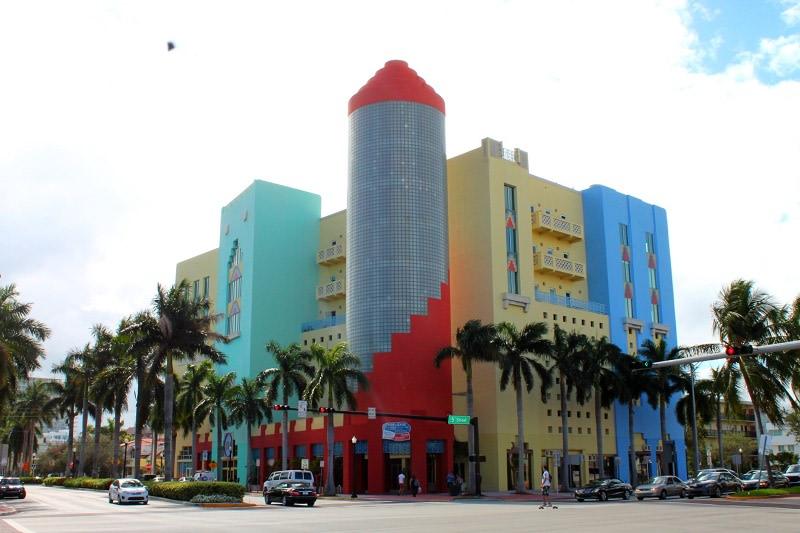 I colorati edifici di Miami