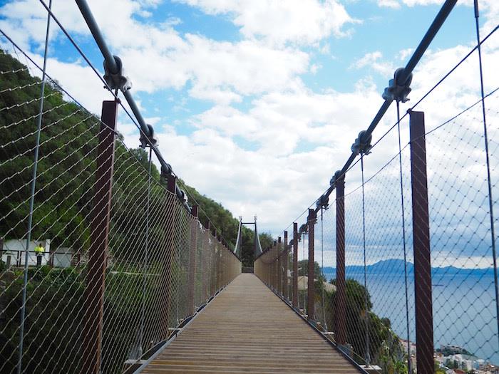 Puente colgante del peñón de gibraltar