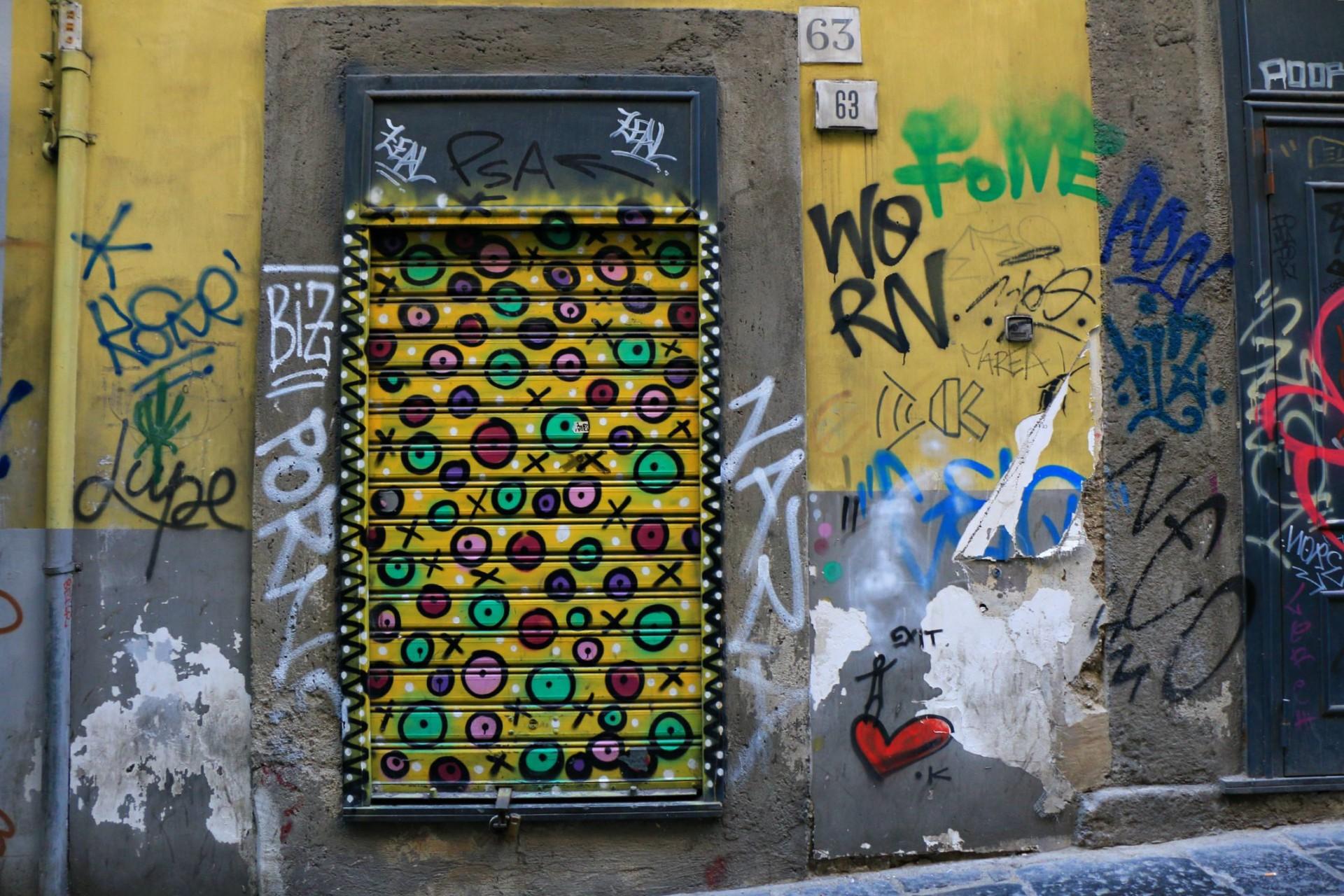 street art Exit Enter, Napoli