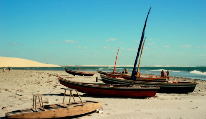 playa de Jericoacoara en brasil