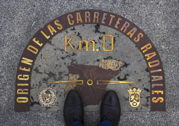 Madrid, puerta del sol kilómetro 0
