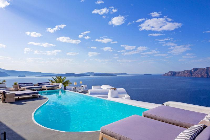 Hoteles con mejores vistas: Katikies Hotel Santorini.