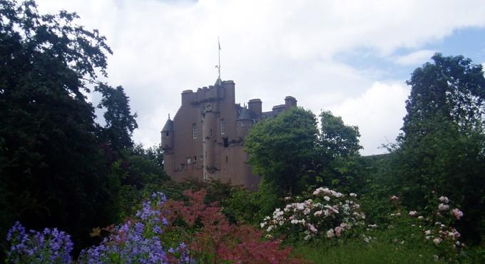 Castillo de Glamis en las Tierras Altas o highlands de Escocia