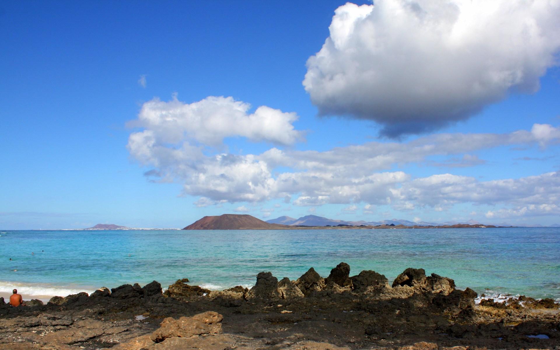 Fuerteventura Islote de Lobos desde Corralejo