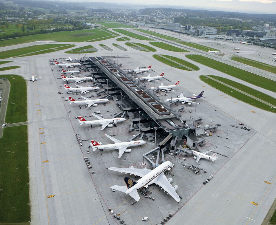 aeropuertos más bonitos del mundo: Vista aérea de Zúrich