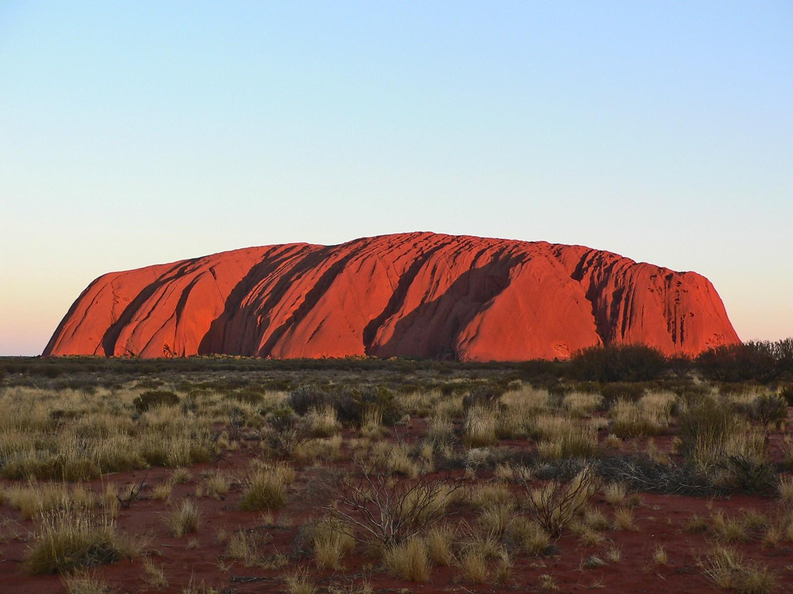 Uluru, poco prima del tramonto