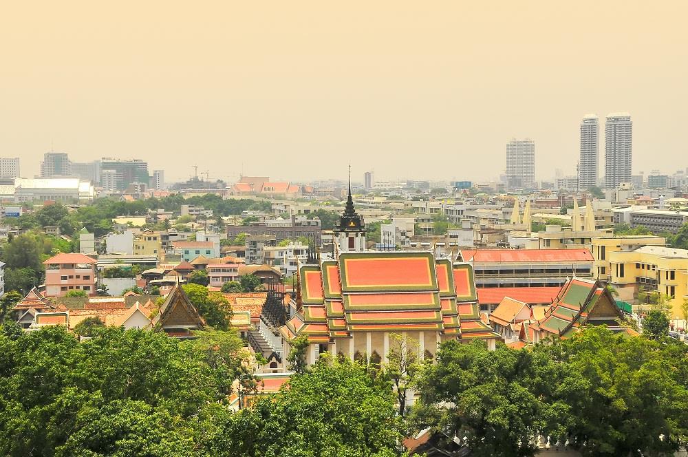 Panorama da Wat Saket - bangkok - templi