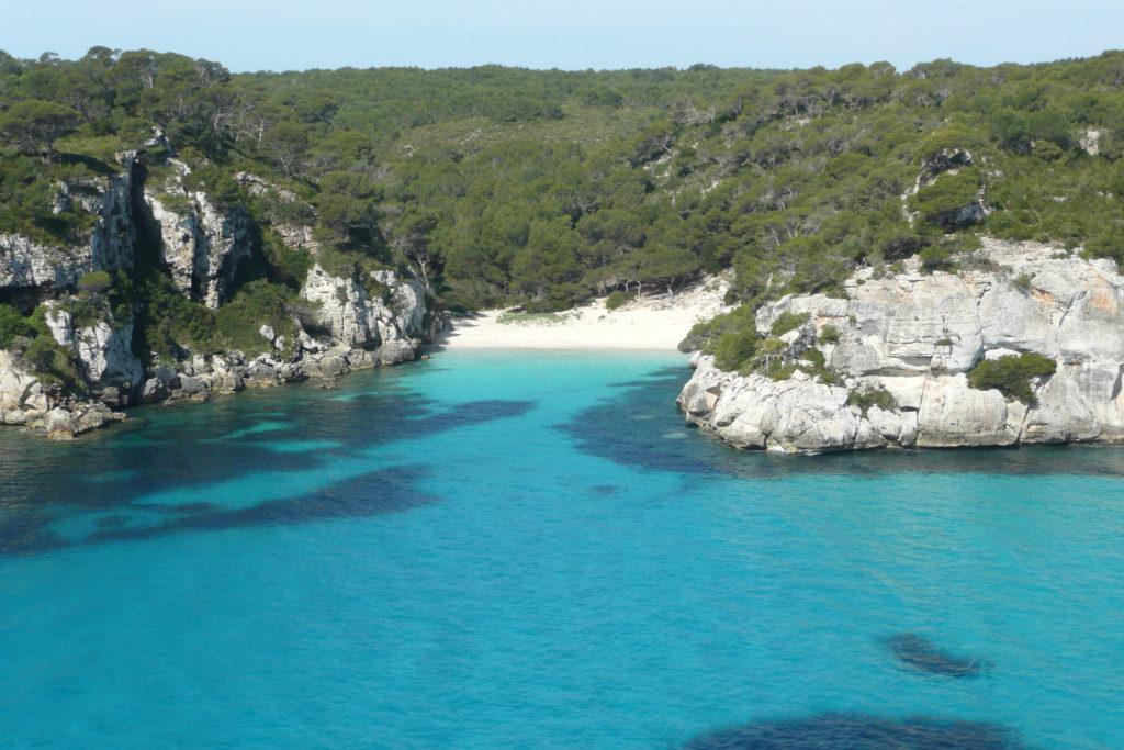 Playas de levante: cala macarella en menorca