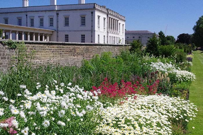 Herbaceous border at Greenwich Park