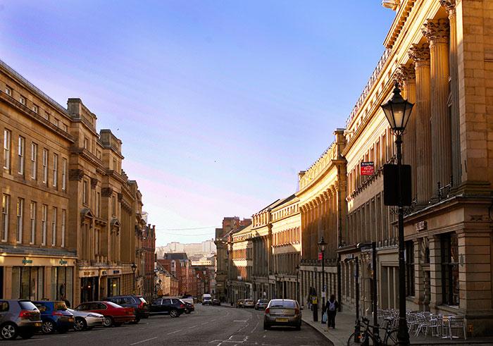 Grey Street and Grainger Town. Image courtesy of NewcastleGateshead Initiaive