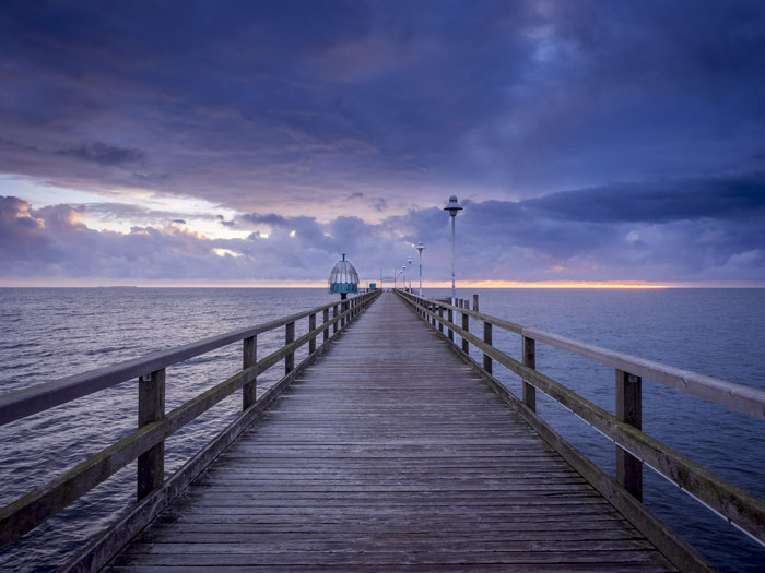 Pontile sul Mar Baltico a Ruegen