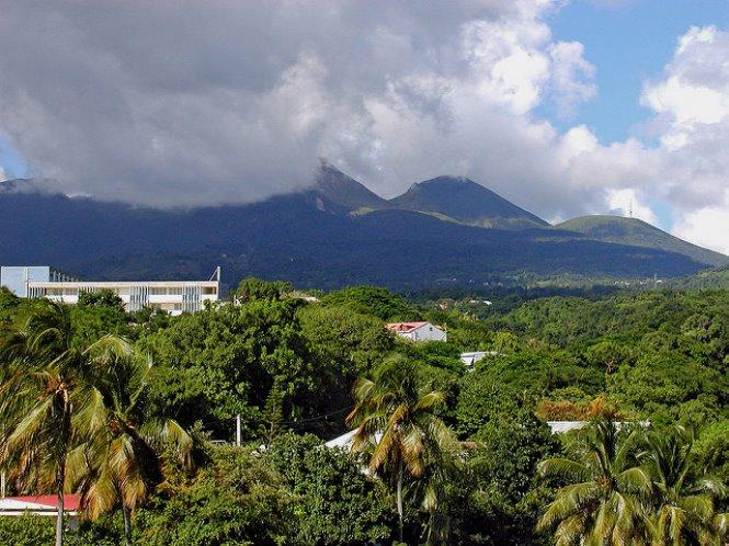 volcán la soufriere en isla san vicente