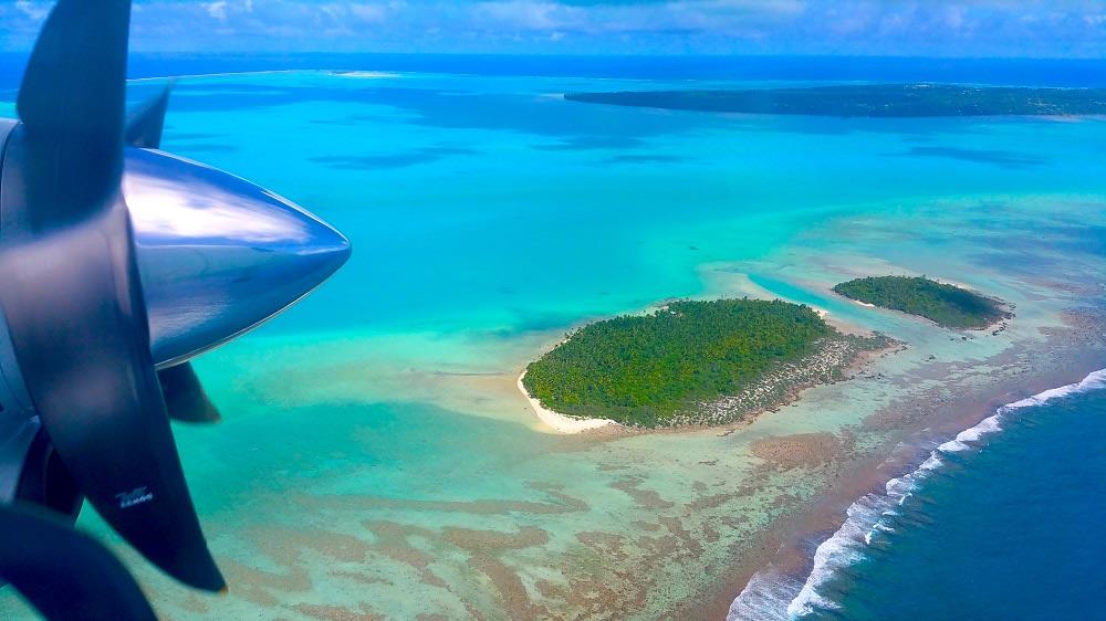Volando sulla laguna di Aitutaki