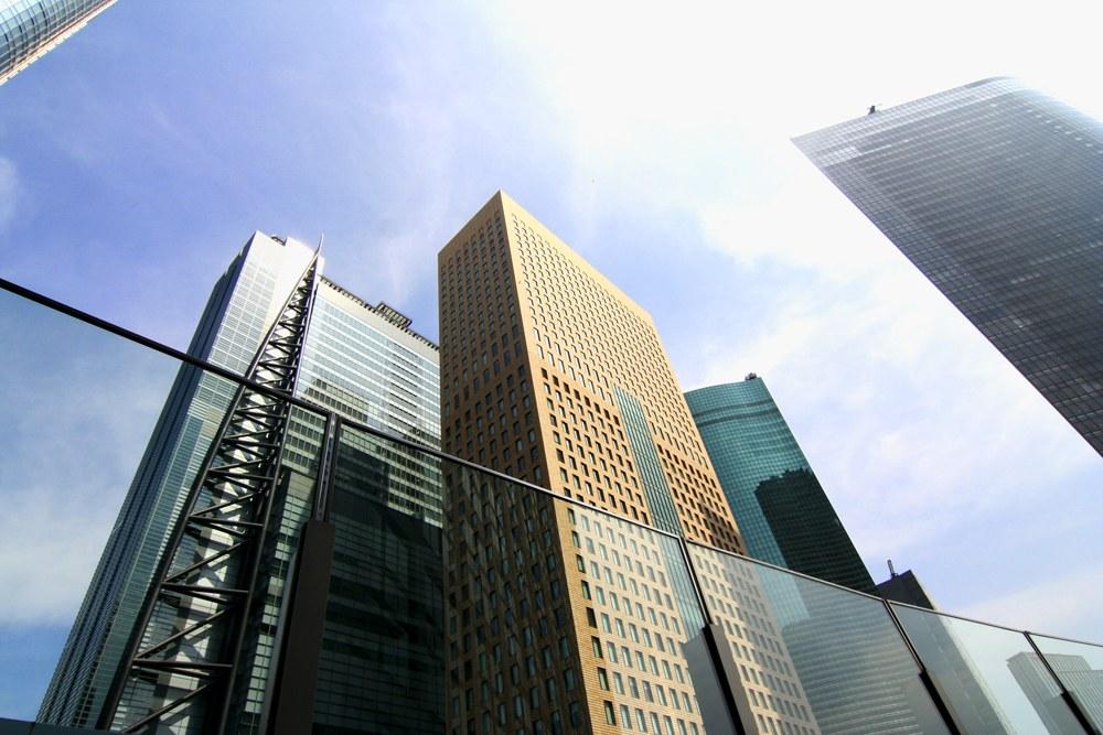 Il quartiere degli affari di Tokyo