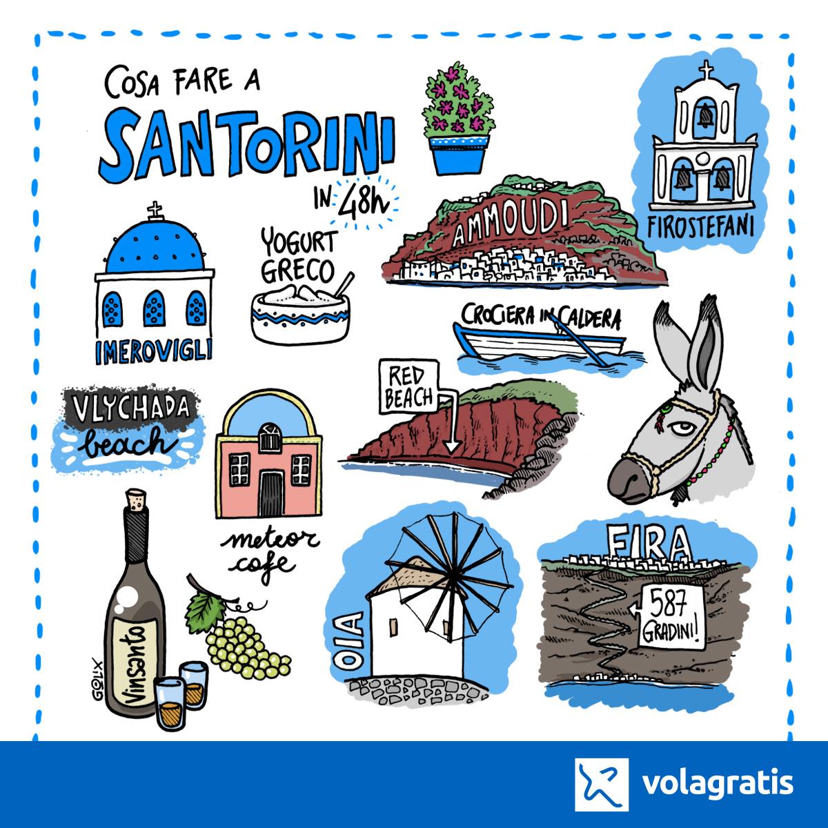 Santorini viaggi a fumetti