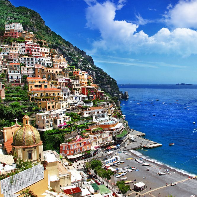Vista panorámica Capri italia