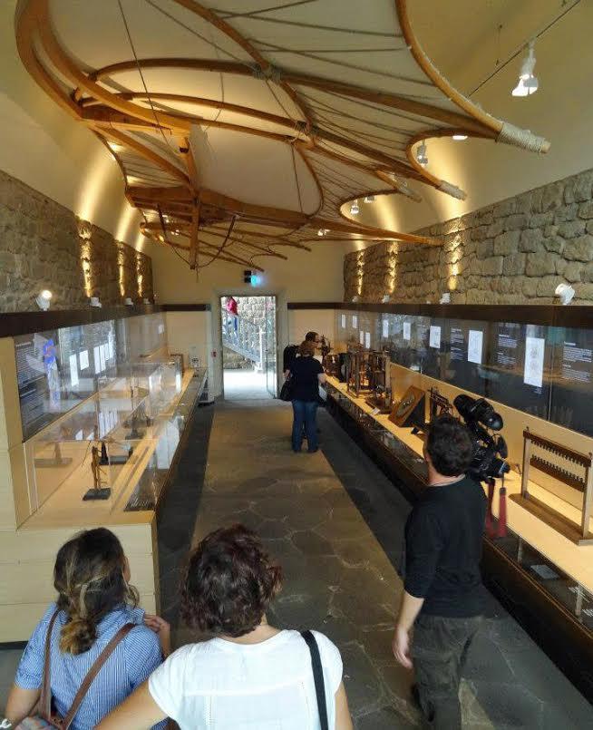 Interior del Museo Leonardino en Vinci