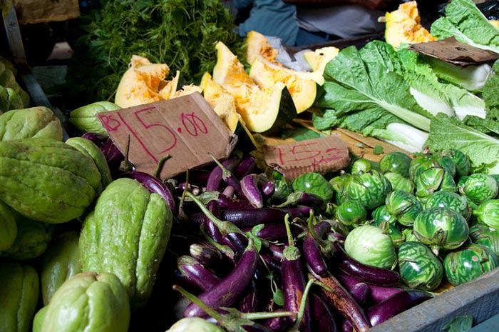 Mercado de Flacq en isla Mauricio