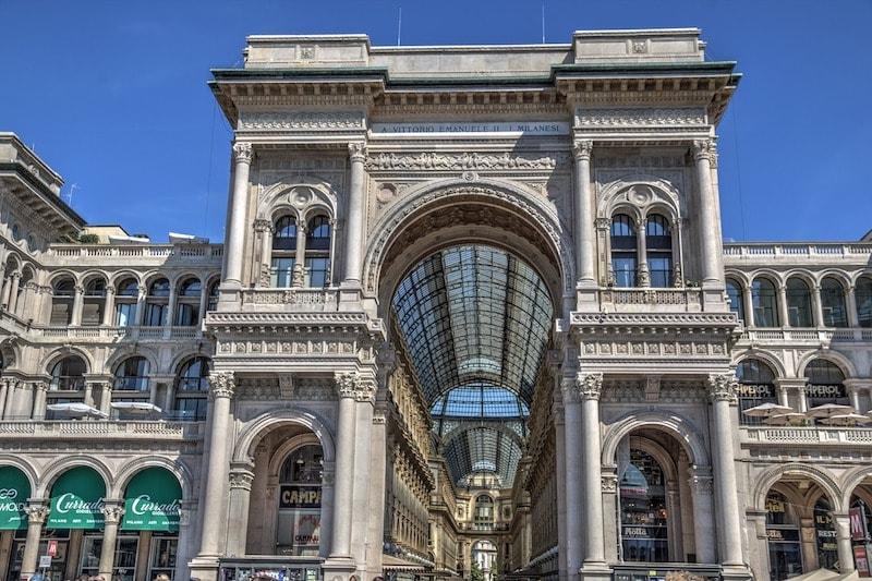 Galeria Vittorio Emanuele, Milán.