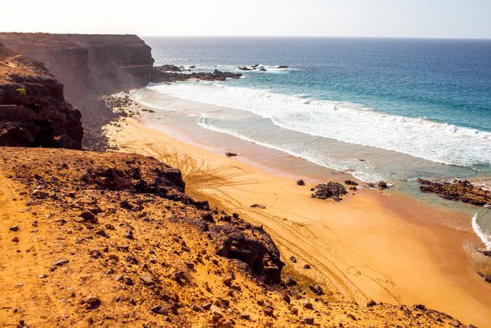 Playas nudistas: Playa el águila, Fuertenventura