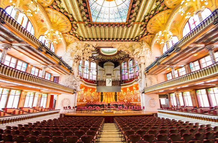 Palau de la Música, Barcelona. Foto: OK Apartment/ Flickr CreativeCommons.