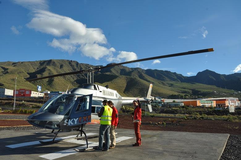 Helicóptero, Tenerife