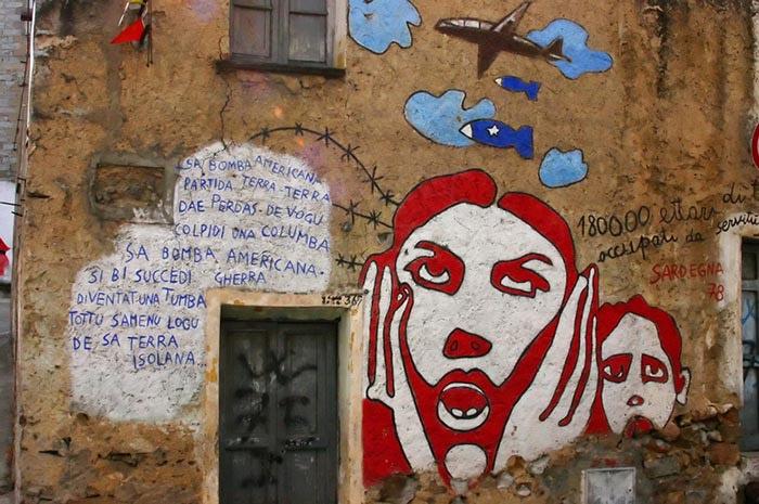 Murales de Orgosolo en Cerdeña