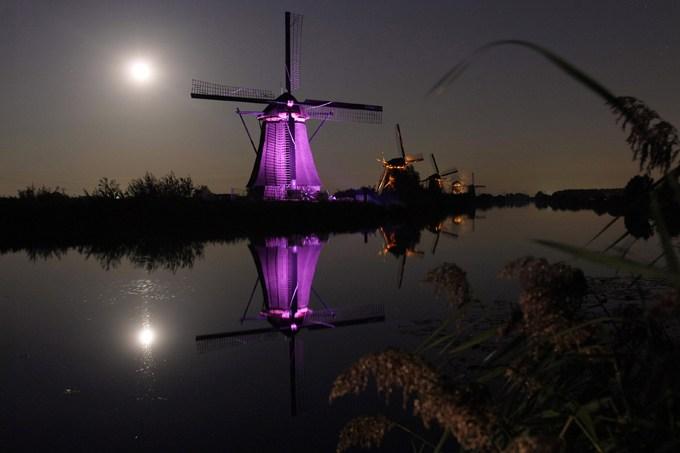 Holanda: Molinos de Kinderdijk junto a Róterdam