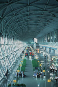 This is an undated photo of the interior of The Kansai Air Terminal on Osaka Bay in Japan designed by the 1998 winner of the Pritzker Architecture Prize Italian architect Renzo Piano. The 60-year-old Genoa. Italy native will be honored June 17 at the White House when President Clinton presents him with the a bronze medallion and a $100,000 grant.(AP Photo/G. Berengo Gardin)