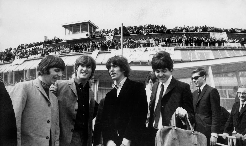 Los Beatles llegando a Heathrow. Imagen de Heathrow Airports Limited.