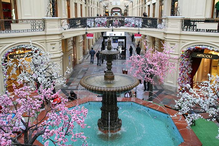 Moscú en invierno: Centro Comercial GUM