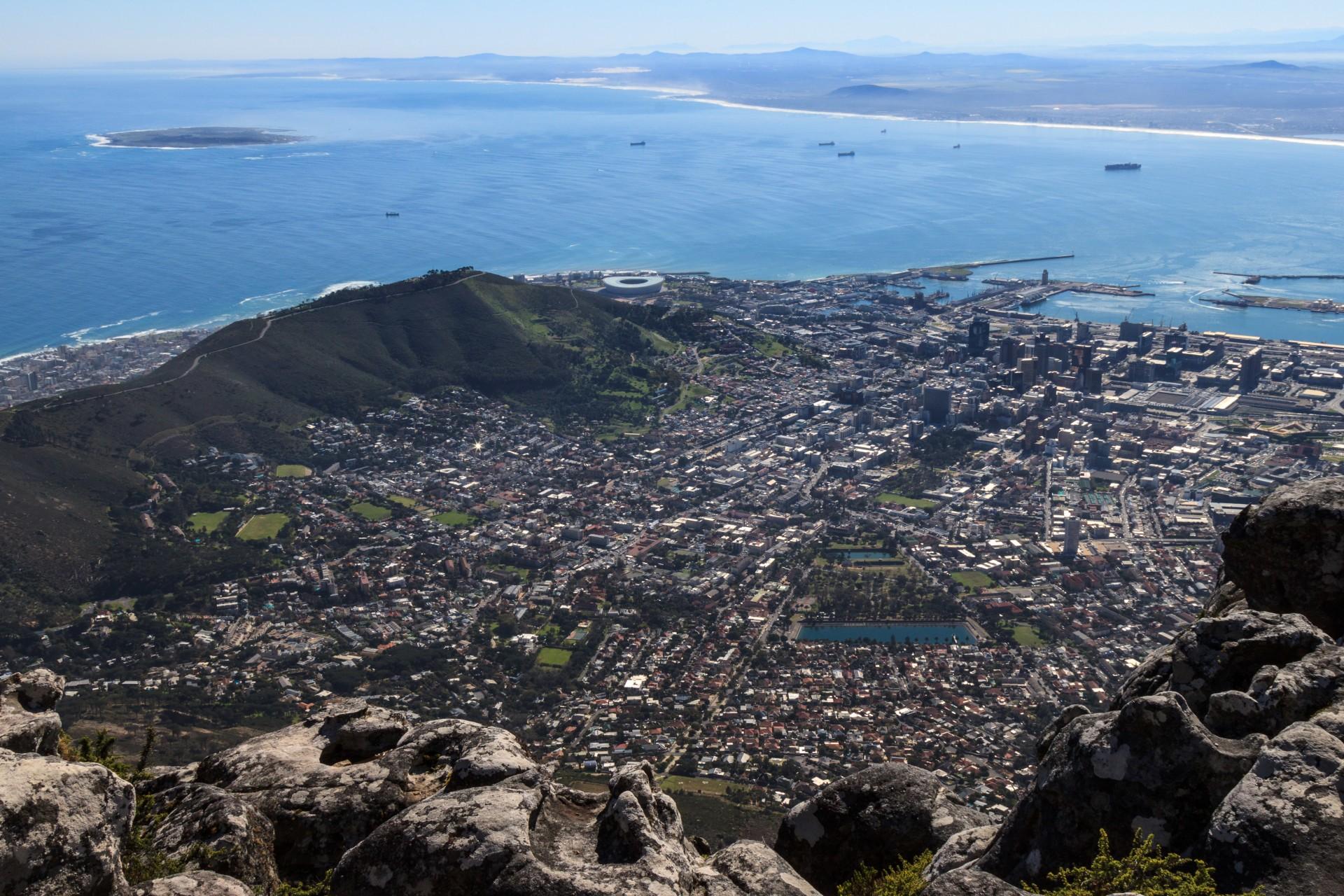 Cape Town vista dall'alto